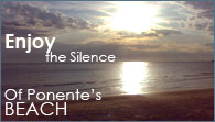 Enjoy the silence of Ponente's beach